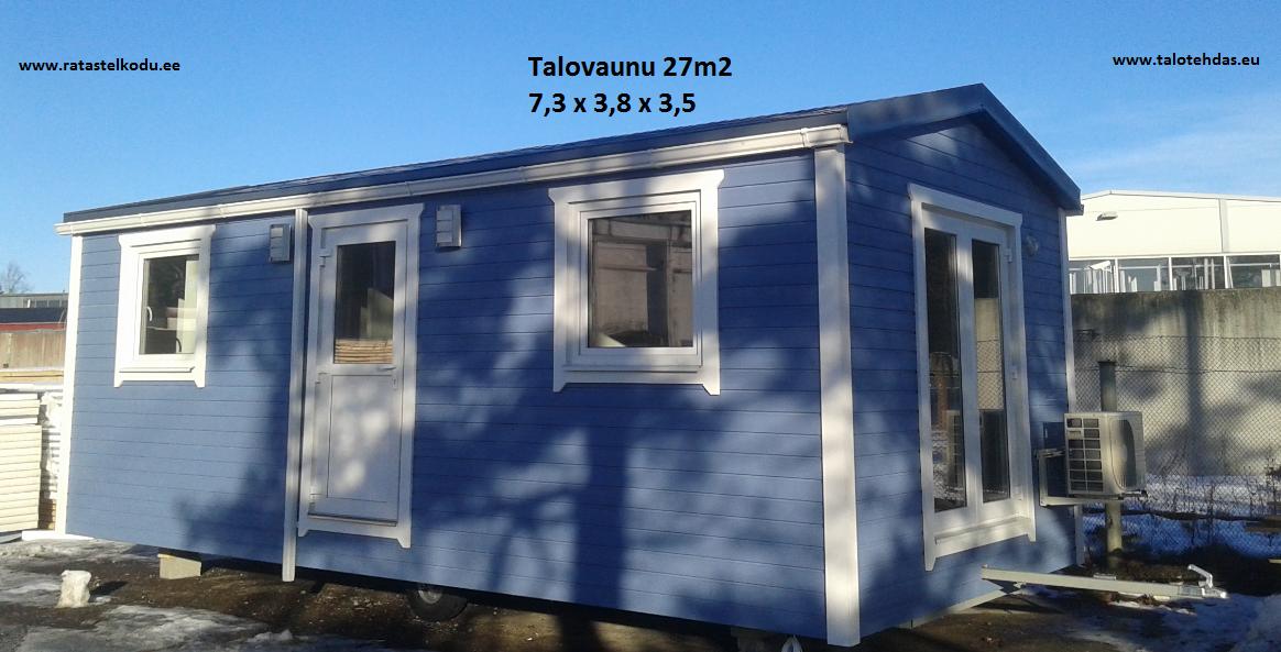 Talovaunu 27m2, talovaunu Virosta, villavagn, husvogn, mobile home, mobile homes, ratastel maja, ratastel kodu, talotehdas.eu