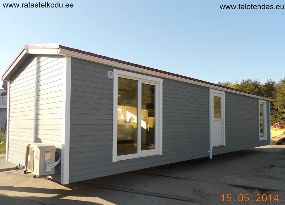 Talovaunu 45,5m2 12m pitkä ja 3,8m leveä ratastel maja, ratastel kodu, talotehdas.eu