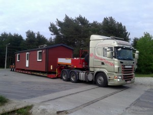 Talovaunu 45m2 kuljetus Virosta Suomeen kesäkuu 2015