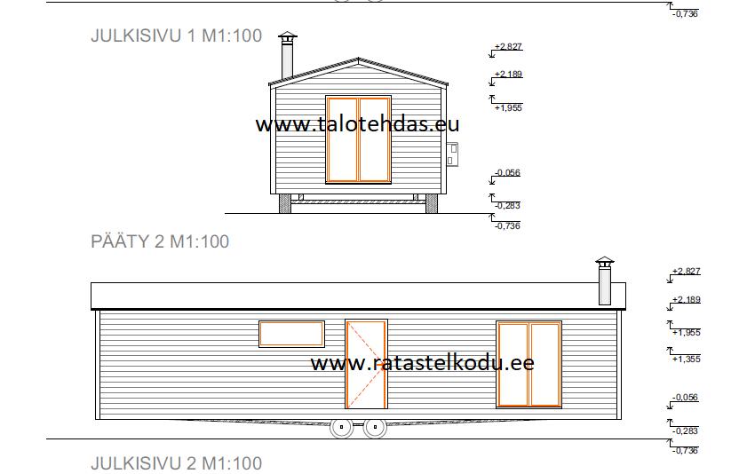 Talovaunu savupiippu talotehdas